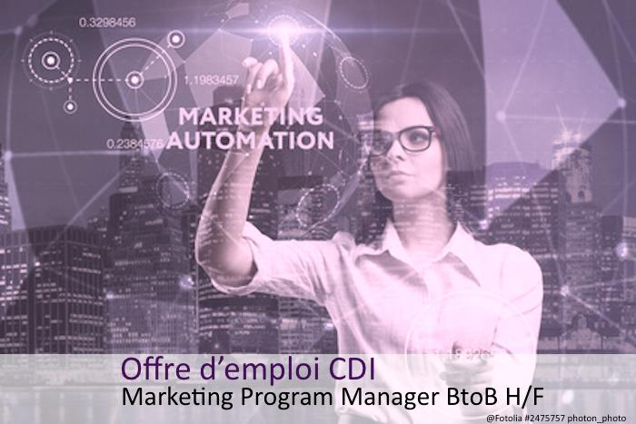 Offre d'emploi Marketing Program Manager BtoB