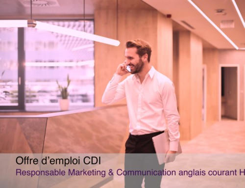 Offre d'emploi CDI Responsable Marketing/Communication H/F